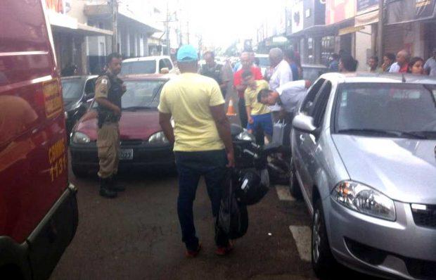 Acidente no Centro de Ituiutaba / Foto: Bombeiros