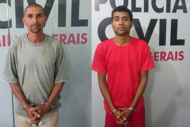 """(Esq) José Cícero Bernardino do Nascimento e o sobrinho David Cícero Ferreira Leobino, o """"Boy"""""""