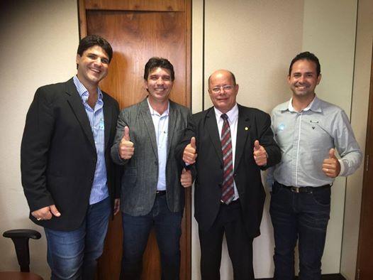(Esq) João Makhoul, Cleidimar Zanotto, Tenente Lúcio e Cido Ribeiro