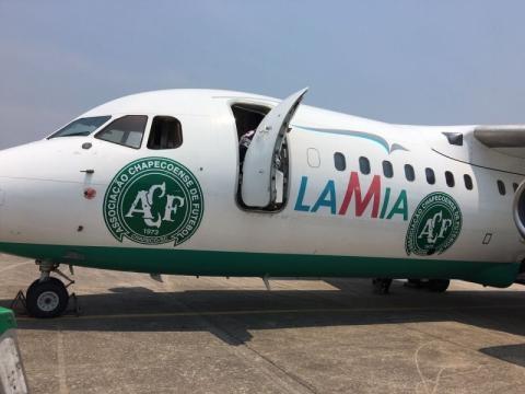A aeronave transportou a seleção da Argentina no início de novmebro