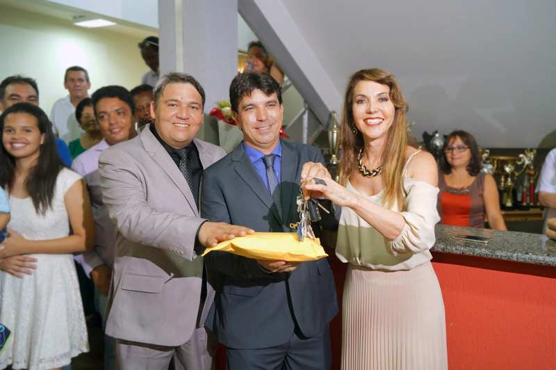 (Esq) Jaisson Silvio, Cleidimar Zanotto e Dinair Isaac / Foto: Paulo Braga