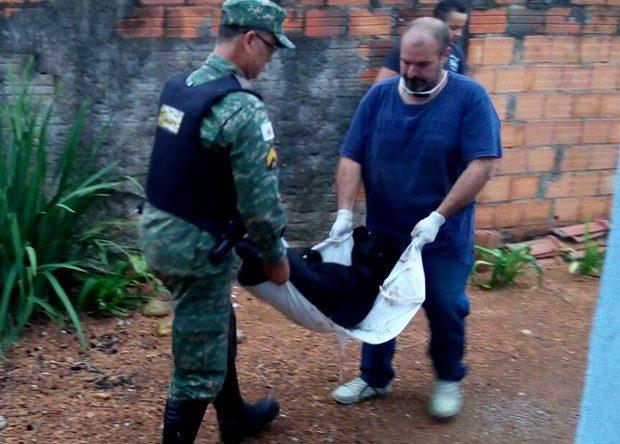 Cão foi encaminhado para uma clínica veterinária em Araguari (Foto: Polícia Militar de Meio Ambiente/Divulgação)
