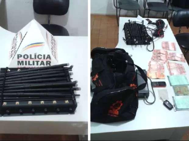 Material apreendido em caminhão roubado em Ibiá (Foto: Polícia Militar/Divulgação)