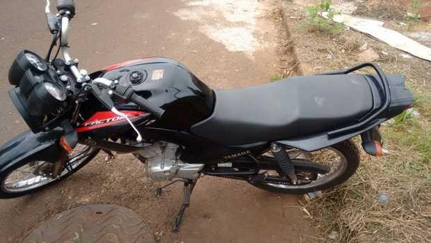 Motocicleta foi recuperada pela PM de Ituiutaba na última terça-feira (31) de Janeiro