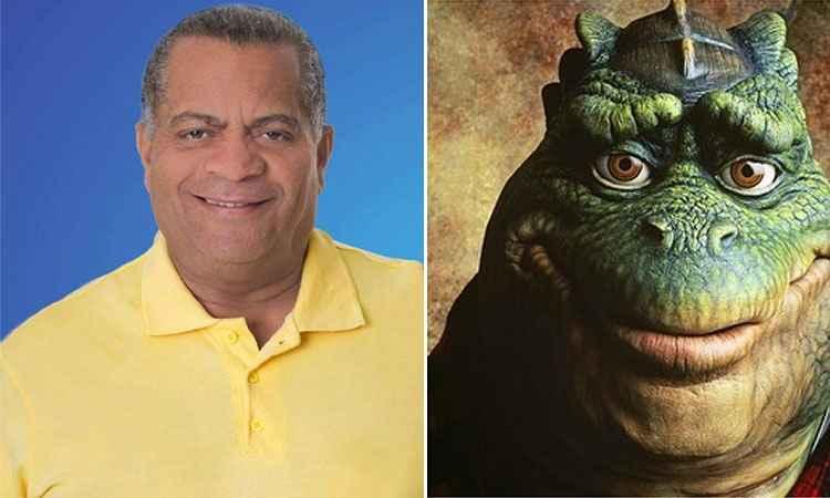 O candidato derrotado a prefeito de Divinópolis, Luís Militão, e o personagem 'Dino da Silva Sauro' (foto: Facebbbok/ Reprodução e Walt Disney/Divulgação)