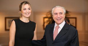 Marcela e o presidente Temer
