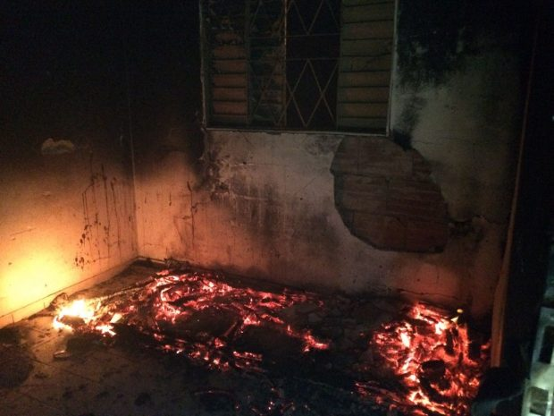 Incêndio ocorreu no bairro Natal / Foto: Bombeiros