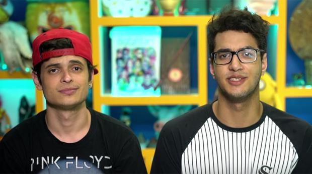 Youtubers Lukas Marques e Daniel Molo em vídeo que fala do reforma do ensino médio