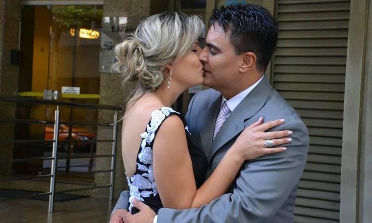 Guilherme e Juliana celebraram a união, que definiram como presente de Deus (foto: Reprodução/Facebook)