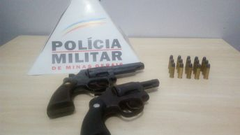Armas apreendidas / Foto: PMMG