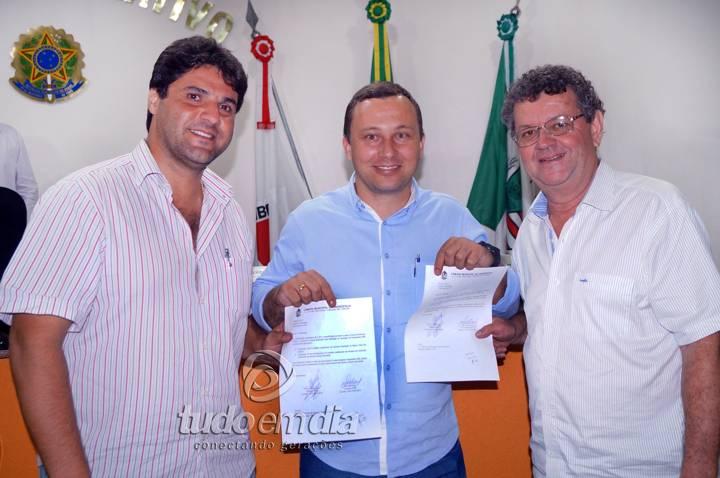 (Esq) João Makhoul, Leandro Freitas e Gilvan Gama