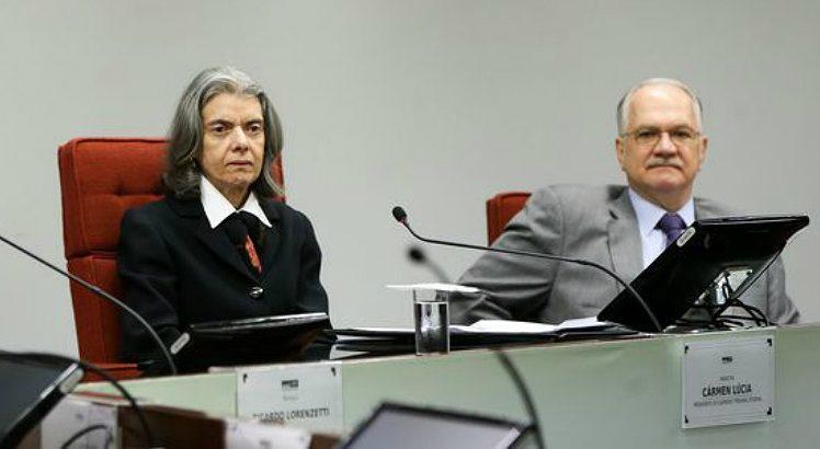 Carmen Lúcia e Edson Fachin / reprodução