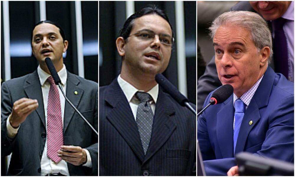 Welinton Prado, Elismar Prado e Marcos Montes aparecem em lista de deputados favorecidos (Foto: Câmara dos Deputados/Divulgação)