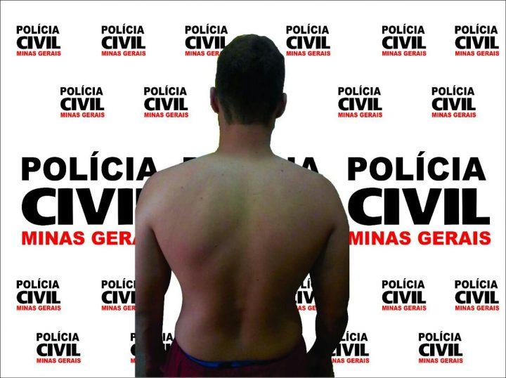 Suspeito preso / Foto: PCMG