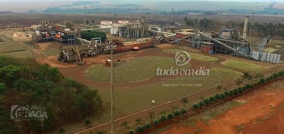 Imagem aérea da Usina Vale do Paranaíba em Capinópolis (MG)