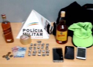 Material roubado de loja de conveniência foi recuperado / foto: PMMG