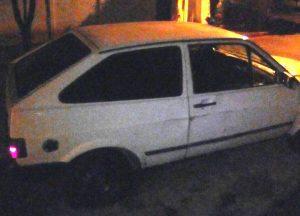 Veículo utilizado na fuga dos suspeitos / Foto: PMMG