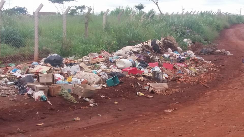 Dias depois, o local já estava completamente tomado pelo lixo (Foto: Laís de Jesus)