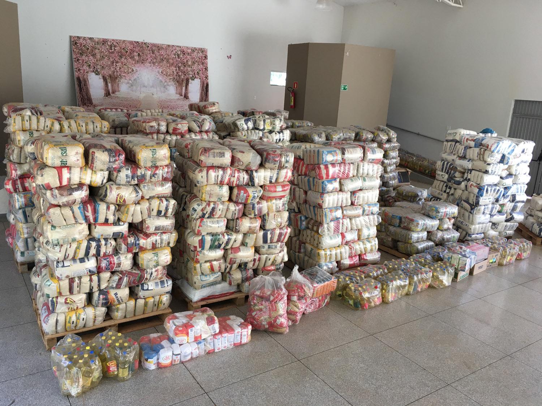 Alimentos arrecadados em 2018 (Foto: Arquivo/Tudo Em Dia)