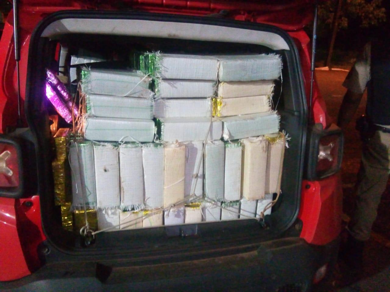 Cerca de 1 tonelada de maconha foi apreendida (Foto: Divulgação/PMMG)
