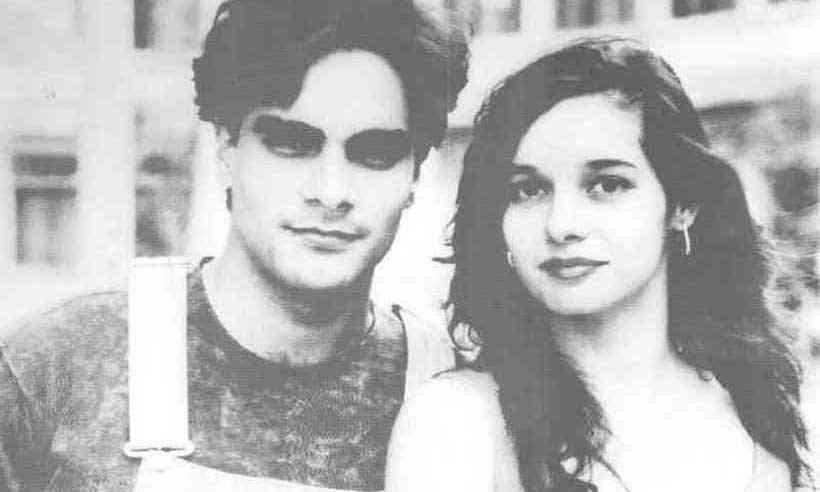 Guilherme Pádua e Daniela Perez na época em atuava juntos, pouco antes de ele assassiná-la, em 1992 (foto: Globo/Divulgação/AFP)