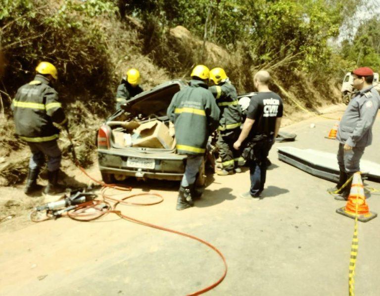 Vítimas ficaram encarceradas e não resistiram aos ferimentos em Paracatu — Foto: Corpo de Bombeiros/Divulgação