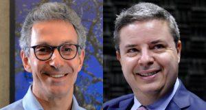 Romeu Zema (NOVO) e Antonio Anastasia (PSDB), candidatos ao governo de Minas Gerais (Fred Magno/O Tempo/Folhapress - Facebook/Reprodução)