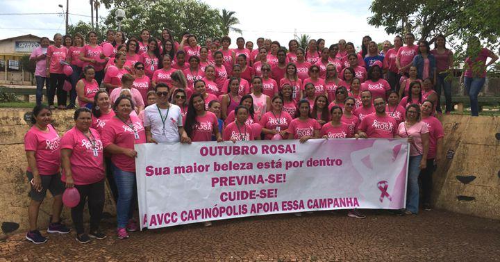 Caminhada fechou o Outubro Rosa em Capinópolis (Foto/Ascom)