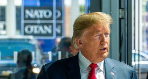 BRUXELAS-BELGICA-11 07 2018-Organização do Tratado do Atlântico Norte da OTAN – Encontro com o presidente dos EUA, Donald Trump ao lado doSecretário Geral da OTAN, Jens Stoltenberg, foto NATO