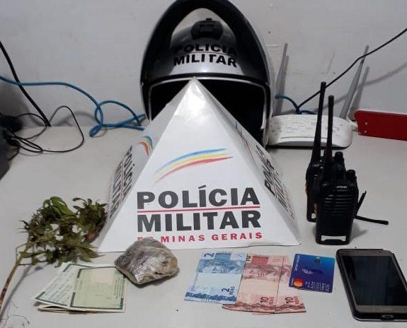 Material apreendido pelos militares (Foto: PMMG/Divulgação)