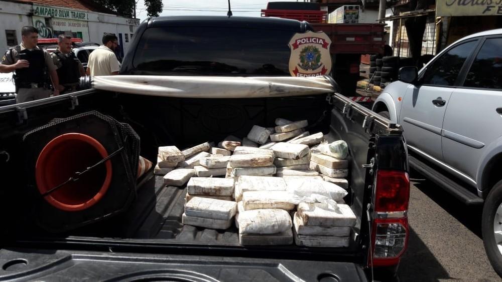 Grande quantidade de cocaína é apreendida pela Polícia Federal em Uberlândia — Foto: Polícia Federal/Divulgação