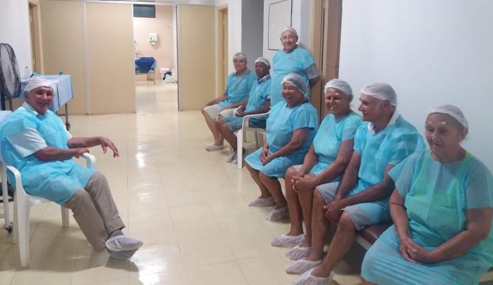 Pacientes aguardam para inciar processo cirúrgico