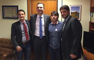 (Esq) Luciano Belchior, Rodrigo Pacheco, Cleidimar Zanotto e João Makhoul