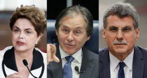(Dilma Rousseff; Eunício Oliveira e Romero Juca)