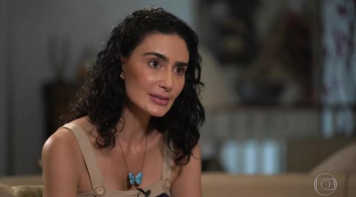 A atriz concedeu entrevista ao Fantástico, em que relatou diversas agressões pelo marido TV Globo / Reprodução