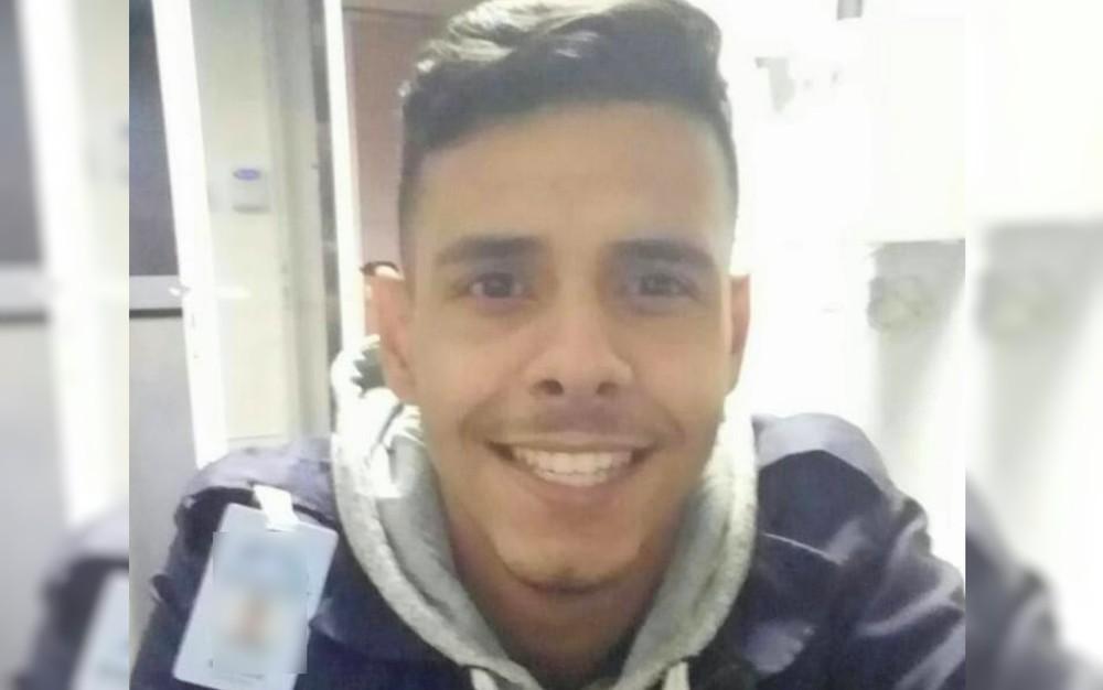 Guilherme Alves Pereira, de 22 anos, é morto durante o trabalho em condomínio de Itumbiara — Foto: Reprodução/ TV Anhanguera