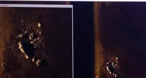 Imagem divulgada pela Marinha da Argentina do que pode ser o submarino Ara San Juan — Foto: Marinha da Argentina/Divulgação
