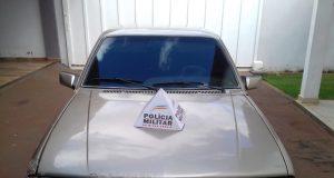 Veículo apreendido pela PM (Foto: PMMG/Divulgação)