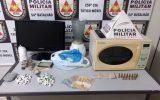 Material apreendido no laboratório de drogas (Foto: PMMG/Divulgação)