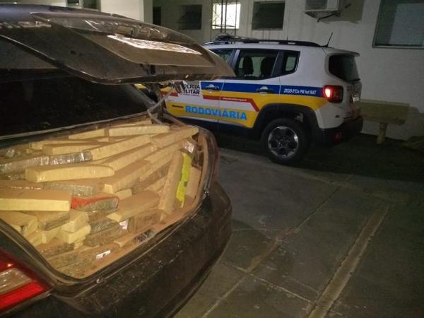 830kg de maconha foram apreendidos pela PM (Foto: PMMG)