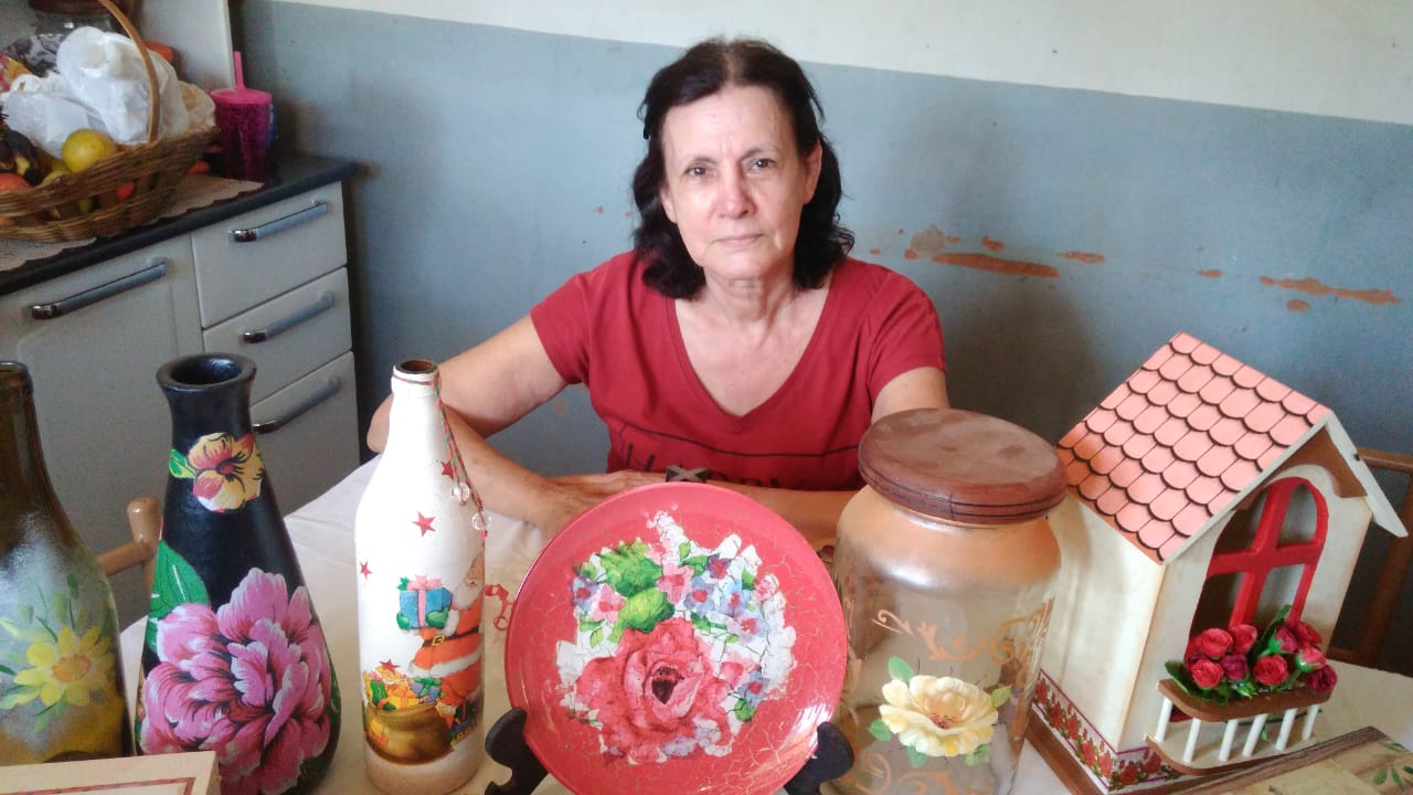 Romilda Oliveira, artesã (Foto: Divino Construtor)