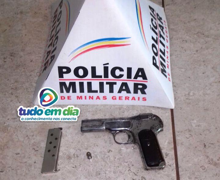 Arma de fogo foi apreendida pela PM em Capinópolis