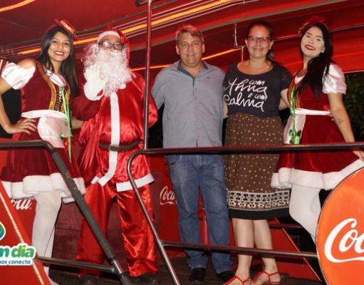 Caravana Iluminada Coca-Cola em Capinópolis, Minas Gerais (Foto: Paulo Braga/ Tudo Em Dia)