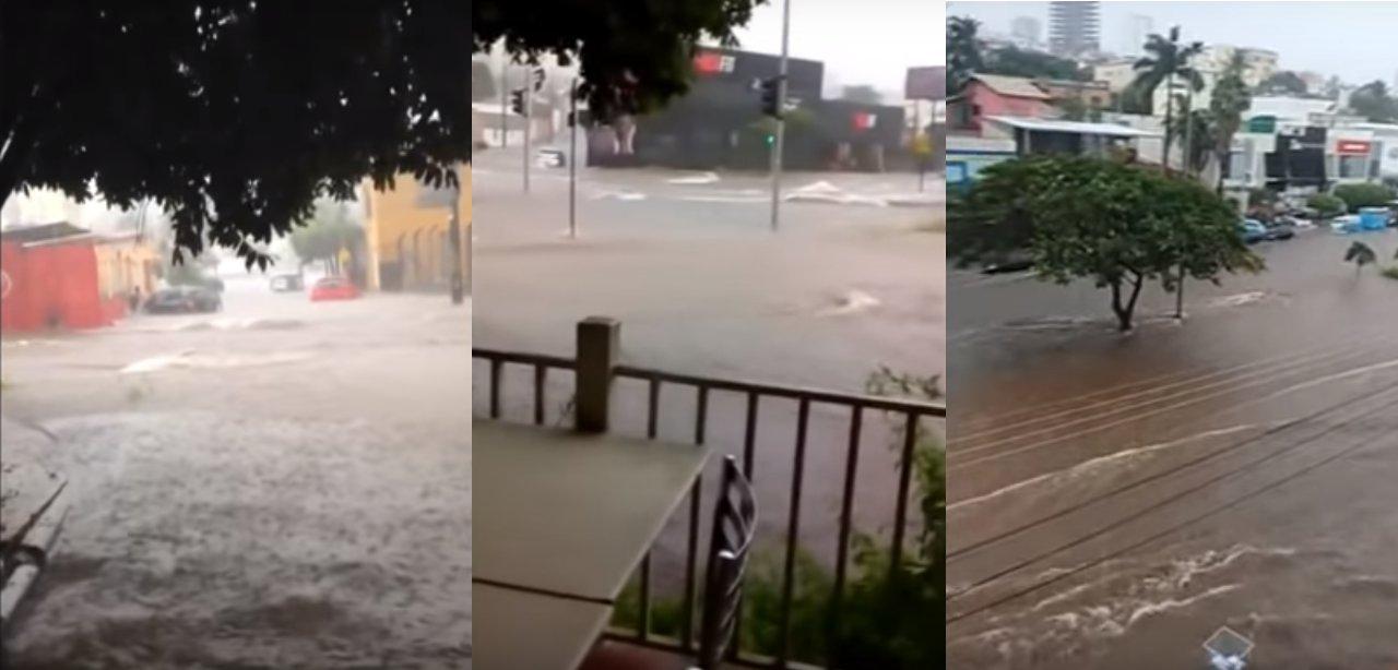Chuvas causam estragos em Uberlândia (Montagem: Tudo Em Dia com imagens enviadas por leitores)