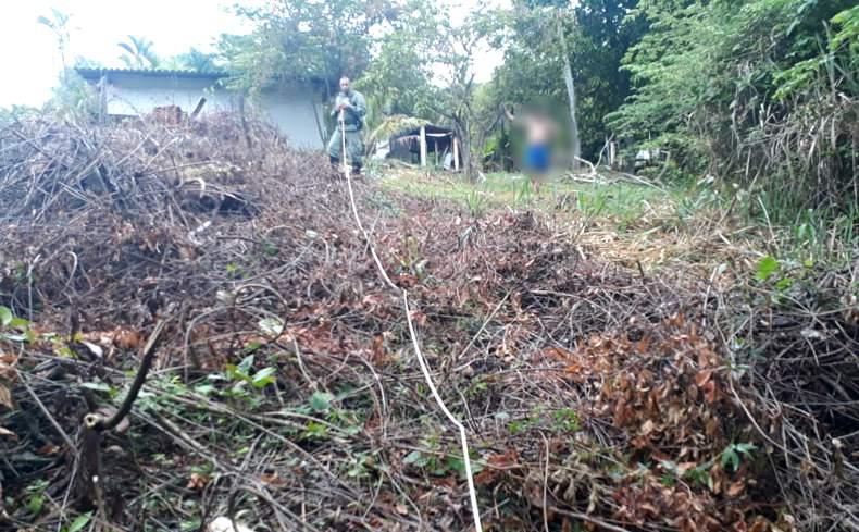 Segundo a PMA, o local é uma área de preservação permanente (Foto: PMA/Divulgação)