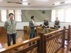 Reunião para tratar da implantação do sistema de vídeo monitoramento ocorreu no salão do juri do Fórum Odovilho Alves Garcia