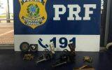 Armas e munições foram apreendidas (Foto: PRF/MT)