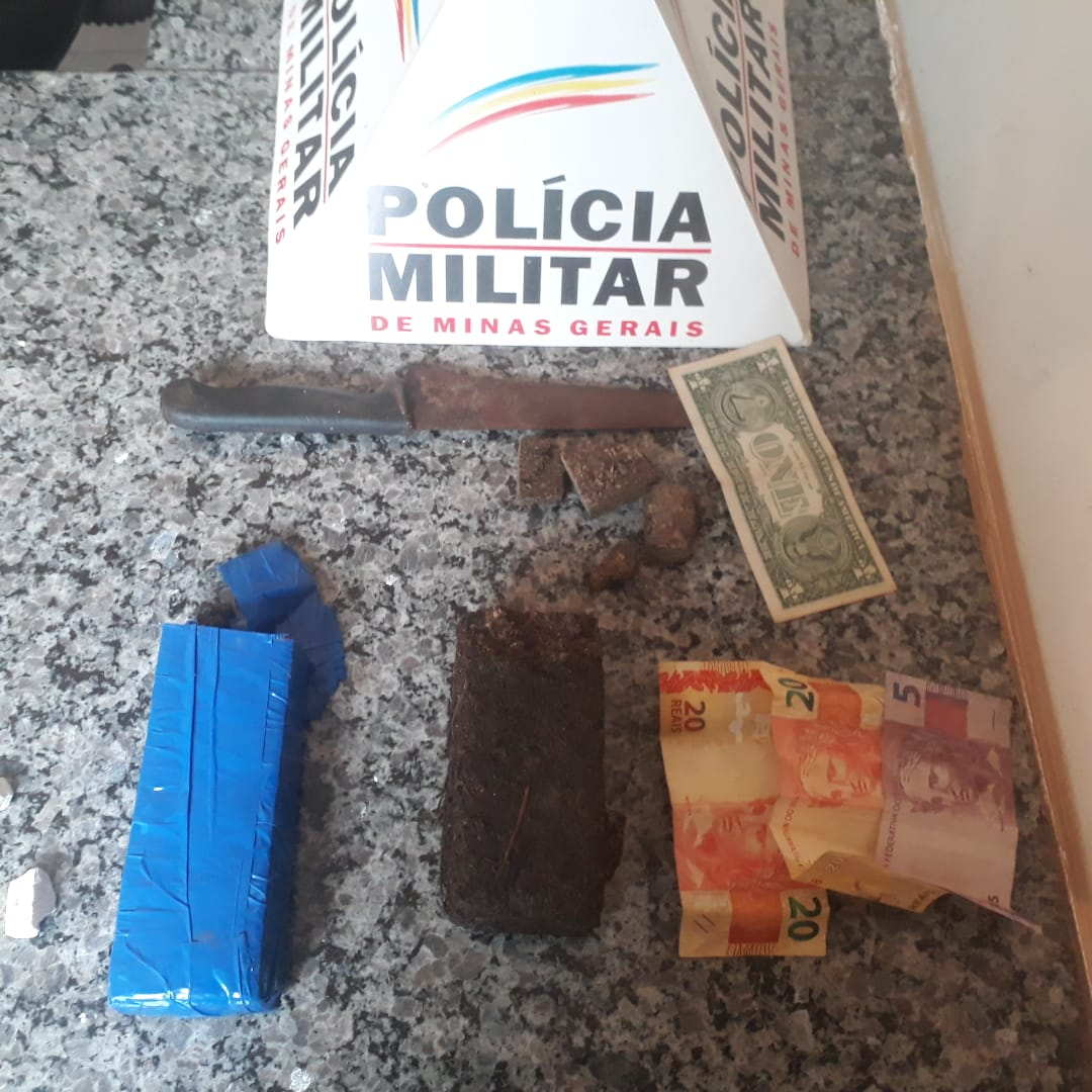 Materiais apreendidos com o suspeitos (Foto: PMMG)