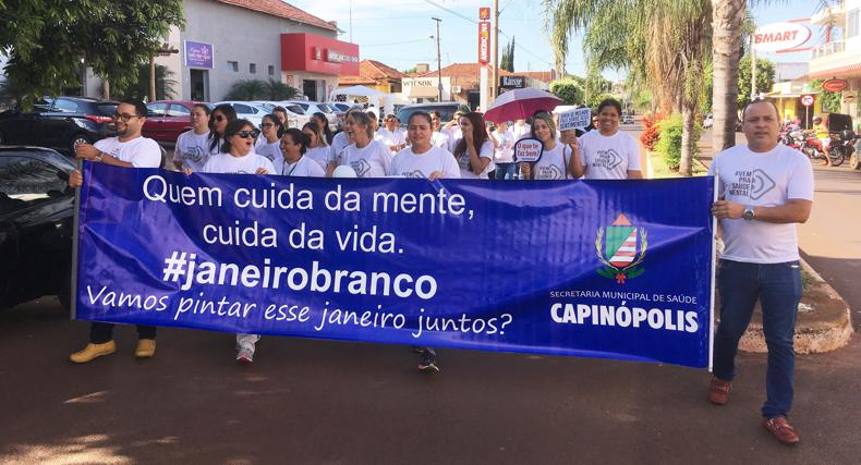 Caminhada marcou o 'Janeiro Branco' em Capinópolis (Foto: Divulgação)