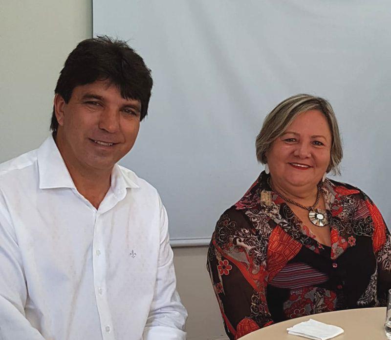 Cleidimar Zanotto e Iracilda Duarte durante encontrou em Ituiutaba